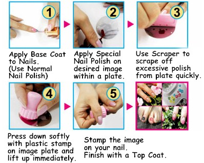 How to use stamping nail products